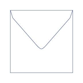 Briefumschlag  für quadratische Bierdeckel