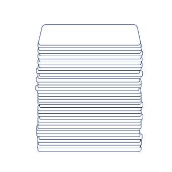 Quadratischer Bierdeckel 93x93 mm