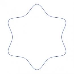 Stern  Bierdeckel runde Ecken