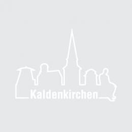 Skyline Kaldenkirchen weiße Kontur